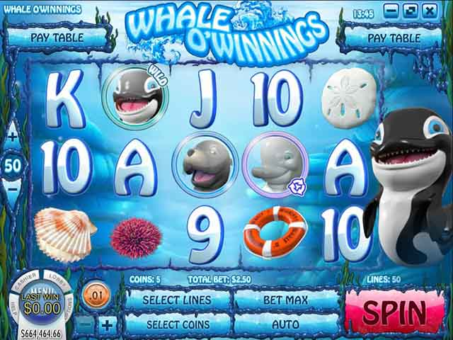 Whale O' Winnings video slot - PLAY NOW!