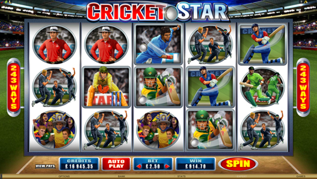 CRAZY VEGAS CASINO :: Cricket Star video slot - PLAY NOW!