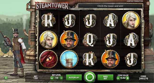 Mr. Green Casino :: Steam Tower video slot - PLAY NOW!