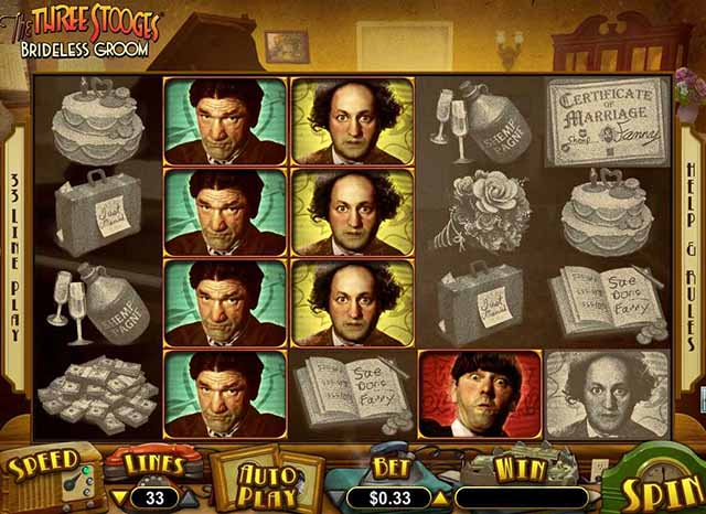 SLOTO' CASH  CASINO :: The Three Stooges® Brideless Groom online slot - PLAY NOW!