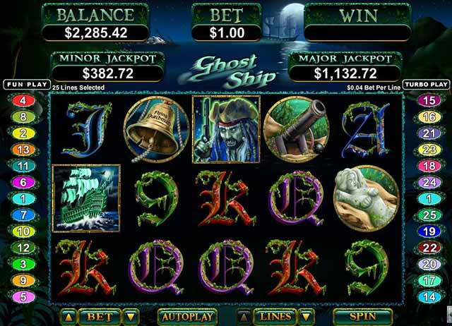 Raging Bull Casino :: Ghost Ship slot - PLAY NOW!