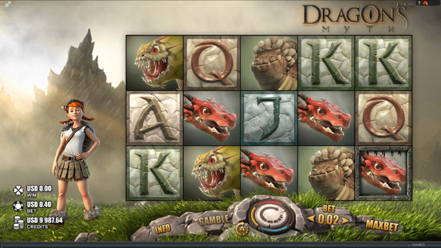 Slots Million Casino :: Dragon's Myth online slot (Rabcat software) - PLAY NOW!